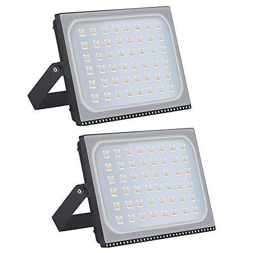 Shinning star 30W Foco LED Exterior Proyector Impermeable IP65 Foco Reflector de Pared Iluminaci/ón Exterior Blanco C/álido 3000k