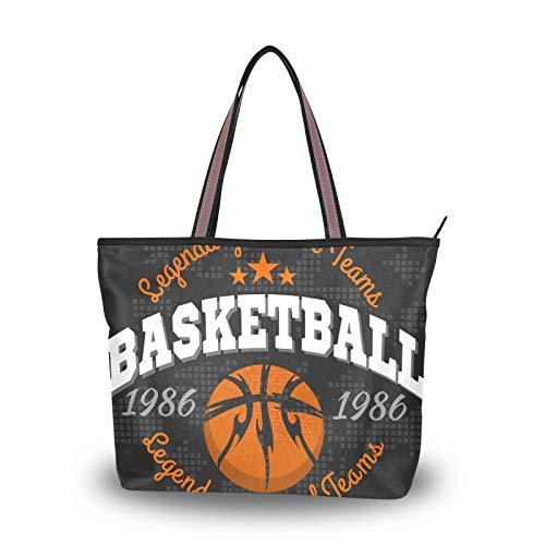 NaiiaN para madres, mujeres, niñas, señoras, estudiantes, ligero, correa, monedero, bolsos de compras, bolso de mano de baloncesto, bolsos de hombro