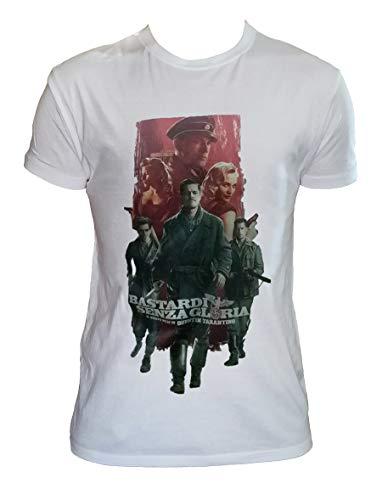Generico T Shirt Bastardi Senza Gloria Uomo Bambino Quentin Tarantino Ingloriosus Bastard Maglietta Film Cult, Uomo - XL