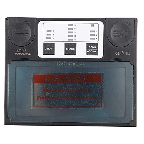 Schweißhelm Ersatz Objektiv, TX550E Sonnenkollektor Schweißhelm Objektiv, Schweißmaske Auto Verdunkelungslinse mit LCD Display, 110 × 90 × 9 mm