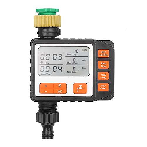 WQJJ Programador de Riego Automatico Temporizador de Agua Riego Mangueras Controlador Digital Programable para Rociador de Jardín Sistema de Irrigación con Temporizador