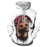 Unisex 3D Gedruckt Rapper 2pac Tupac Herren Sweatshirts Kapuzenpullover Hip Hop Kapuzenjacke Hoodie Casual Pullover Sweatjacke