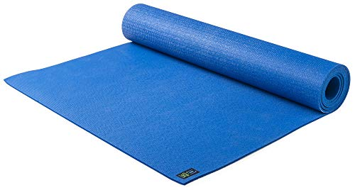 Jade Yoga- Level One Yoga Mat - Sustainable Yoga Mat for A Secure Grip to Help Hold Your Pose (Color: Classic Blue)