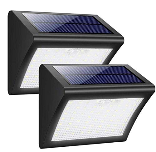 Luz de pared tyxl LED Impermeable Al Aire Inducido Por La Luz Solar Modos De Luz De Seguridad Wall 3000mAh Inteligente Tres Negro 2pcs / Set