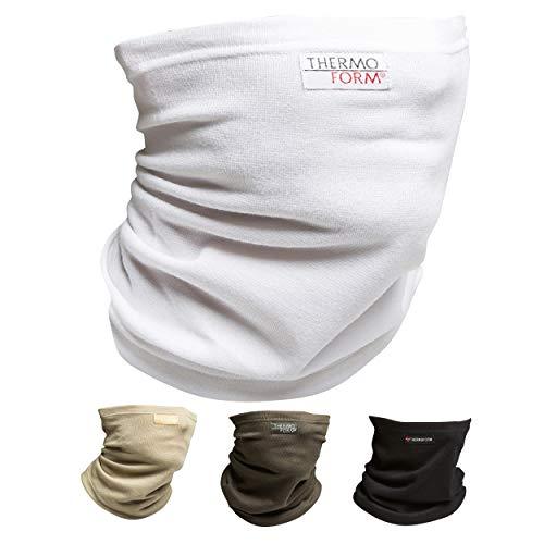 Oramics Multifunktionstuch Schlauchschal – Nahtloses Halstuch für Männer und Frauen – atmungsaktiv und hautfreundlich, Schlauchtuch für Sport und Freizeit, Bandana für den Schutz vor Kälte (Weiß)