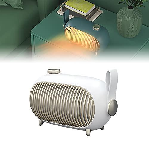 HRTX Calentador, Calefactor Bajo Consumo, 1000w, 3 Niveles Regulables, Calefacción PTC, Alta Eficiencia Y Ahorro Energético, Apto para Cabañas de 15-25 Metros Cuadrados,Blanco