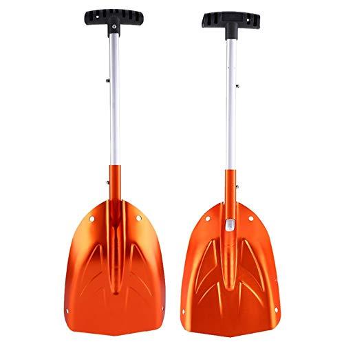 DAUERHAFT Pala quitanieves de aleación de Aluminio Naranja, para Quitar Nieve(Una Venta)