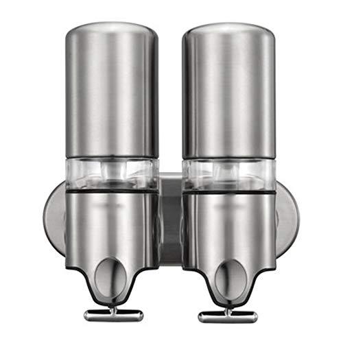 OMYLFQ Dispensadores de loción Bomba de Pared de Acero Inoxidable, champú y dispensador de jabón, para encimera de baño, baño jabón