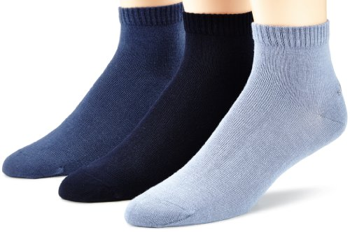 s.Oliver Unisex 3er Pack Sneakersocken, Blau (Smoked Blue 75), 39-42