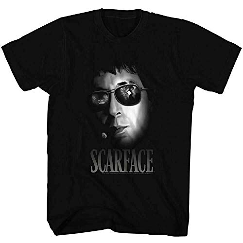 Scarface Aviators T Shirt Mob Mafia Movie tee Black Black 3XL