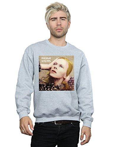 Absolute Cult David Bowie Hombre Hunky Dory Album Cover Camisa De Entrenamiento Deporte Gris XXX-Large