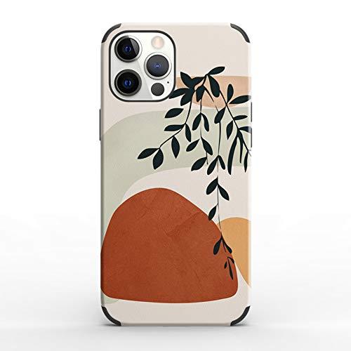 Adecuado para iPhone X/XS/12 Mini/11Pro Max funda de teléfono, parachoques de resina duradero, integrado en 4 bolsas de aire anti-caída, absorción de golpes, patrón artístico abstracto A-iphone 6