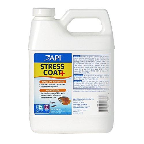 API STRESS COAT Aquarium Water Conditioner 32-Ounce Bottle