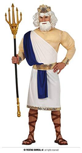 FIESTAS GUIRCA Disfraz Poseidn Dios Griego Hombre Adulto Tamao Grande