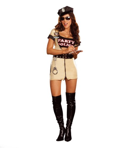 Cesar - Disfraz de policía sexy para mujer (adulto), talla S