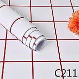 LZYMLG Papel Pintado Autoadhesivo de PVC Estilo nórdico celosía Dormitorio Sala de Estar Dormitorio Tienda de Ropa Papel Pintado Impermeable C211 60cm*1m