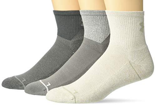 Under Armour Phenom 2.0 Quarter Socks, 3-Pair Calcetines, Surface Gray Assorted, L para Hombre