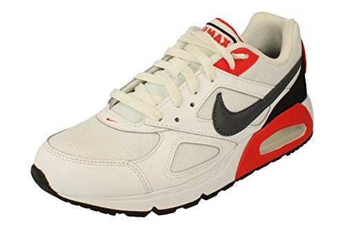 Nike Air Max Ivo Herren Running Trainers CD1540 Sneakers Schuhe (45 EU, White Dark Grey Habanero Red 100)