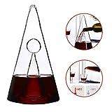 N / A Decantador de Vino Pyramid, deshidratador de Vino de filtrado rápido, Material de Vidrio de Cristal sin Plomo Saludable, diseño Creativo, Fondo Redondo y Ancho Estable