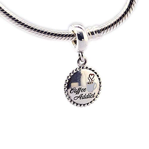 LILIANG DIY Perlen Silber 925 Sterling Schmuck Kaffee Addict Dangle Charm Making Für Frauen Geschenk Fit Charms Armbänder