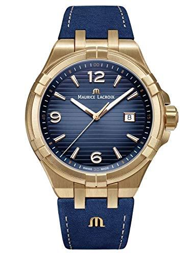 Maurice Lacroix Reloj analógico para Hombre de con Correa en Cuero AI1028-BRZ01-420-1
