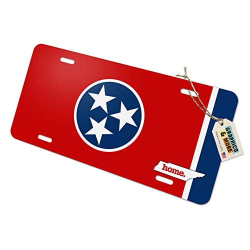 Graphics and More Tennessee TN Home State Novelty Metal Vanity License Tag Plate - Flag
