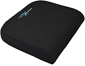 Xtreme Comforts Large Seat Cushion with Carry Handle and Anti Slip Bottom Gives Relief from Back Pain