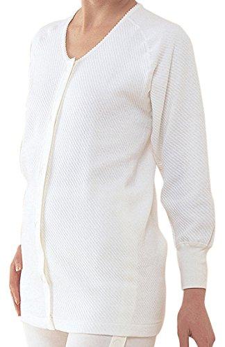 コベス BM2 ワンタッチ肌着 前開きシャツ長袖 (綿キルト冬用) 婦人 マジック式 L (日本製)