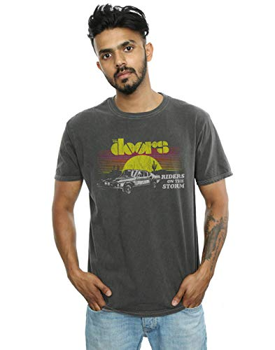 The Doors Men's Riders On The Storm Sunrise Washed T-Shirt Charcoal X-Large