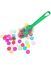 perfeclan Tarjetas De Papel Bingo, Varita Magnética Coloreada con 100 Chips Multicolores Nuevo