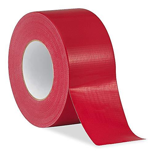 Embalaje de diamante - 1 rollo - Cinta adhesiva roja/tamaño de la cinta: 48 mm x 50 m. fuerte impermeable tela libro cinta de encuadernación envío rápido gratis …