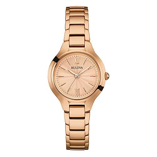 Reloj Bulova para Mujer, pulsera de Acero Inoxidable