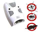 Betzila Ultrasonic Repellent, Electronic Bug Repellent Reject Ant, Mosquito, Rat, Roach, Flea, Rodent, Insect, Pest Repellent Indoor Plug in, Safe for Human and Pets Control