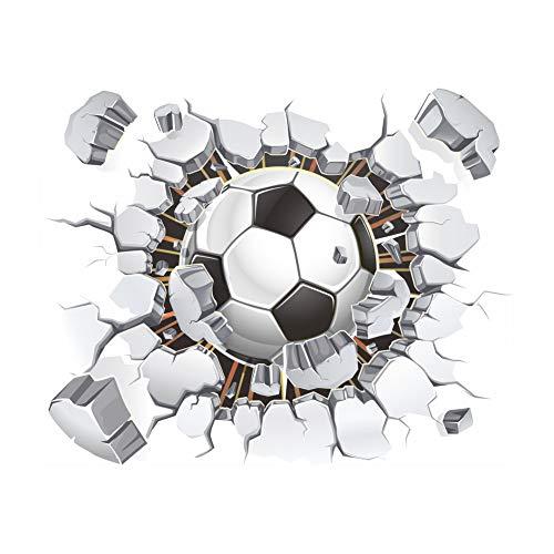 iTemer 1 set pegatinas pared decorativas Stickers Vinilos decorativos pared dormitorio 3D decoracion pared Elegante y hermoso Fútbol Negro 40cm * 50cm