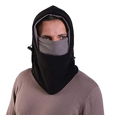 Balaclava Fleece Hood Double Layer, Neck Warmer...