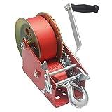 Kinbelle Treuil manuel à manivelle à double engrenage, 1,587 kg, pour bateau, ATV, RV, remorque robuste (C)