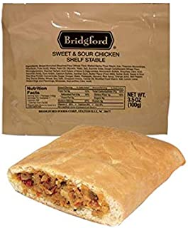 Bridgford Sweet and Sour Chicken - MRE Survival Food Storage Ready To Eat Meals - 3 Pack …