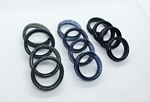 12x Scissor Ring Inserts, 4 L, 4 M, 4 S Barber Hairdressing Shears Scissors Finger Rings Grips Inserts (Purple)