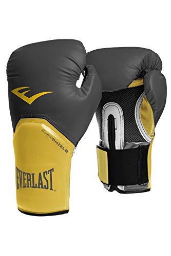 Everlast 2300GR/0R16 - Guante de boxeo elite, color gris / amarillo