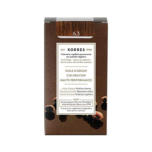 Korres Coloration Permanente, 6.3 Blond Miel Doré, 50 ml