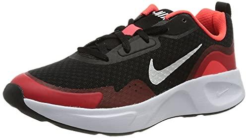 Nike WearAllDay, Zapatillas de Gimnasio, Black/White-University Red, 37 EU