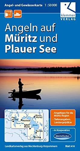 Angel- und Gewässerkarte Müritz und Plauer See: Maßstab 1:50.000, GPS geeignet, Tipps zum Angeln in der Müritz-Region auf der Rückseite