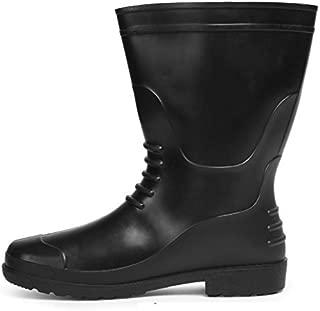 Hillson Chota-Hathi Black Plain Toe Gumboot Size 8