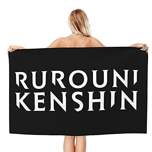 Rurouni Kenshin Logo Anime Oversize Telo Da Spiaggia Morbido Asciugamani Ad Asciugatura Rapida Asciugamani Estivi Piscina Microfibra Uomini Donne Nuotata Asciugamani Grandi