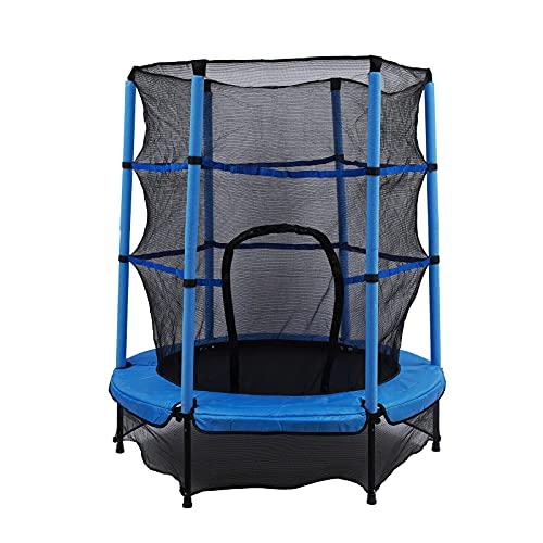Cama elástica infantil Jumper de 140 cm, divertida y de fitness para niños a partir de 3 años, para uso como cama elástica especialmente asegurada con red y cubierta de bordes.