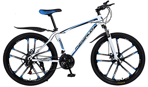 Sale!! Hardtail Mountain Hybrid Bike, PVC And All Aluminum Pedals, High Carbon Steel And Aluminum Al...