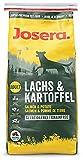 JOSERA Lachs & Kartoffel (1 x 15 kg)   getreidefreies Hundefutter   Lachs als einzige tierische Proteinquelle   Super Premium Trockenfutter für ausgewachsene Hunde   1er Pack