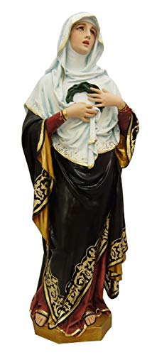 Woodington's Sorrowful Blessed Virgin Mother Mary 30 Inch Large Statue