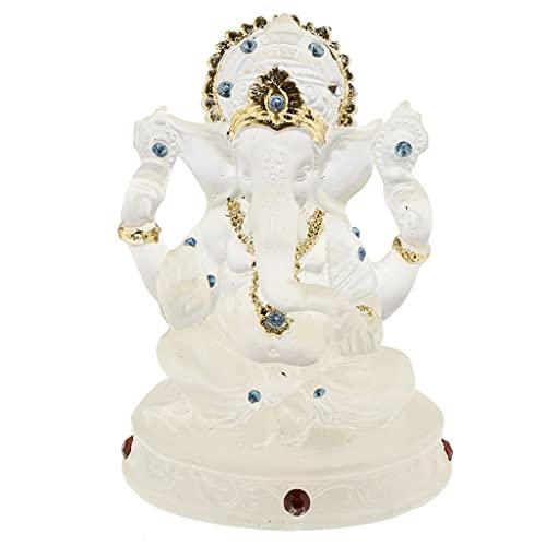 Moonlight Star Ganesha Buda Elefante Estatua Estatua Escultura Buena Suerte Charm Casa Oficina Decoración (Color : Style A)