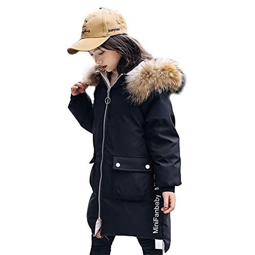 Chaqueta de color grueso de las niñas, cubierta de invierno con capucha con capucha con capucha con capucha con capucha con capucha gruesa, cálido, mullido, a prueba de viento, resistente al viento, c